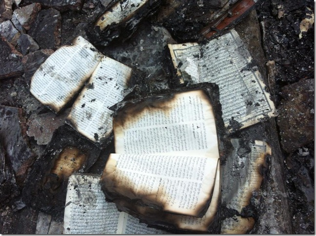 Bible Society of Egypt, Burnt Bible